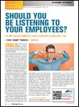 Motor Age, July 2013 Should You Be Listening To Your Employees?