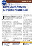 ABRN - Auto Body Repair News, September 2013 Give Customers A Quick Response